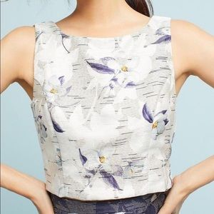 Anthropologie x Eva Franco Floral Jacquard Top